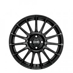 Superturismo LM - Matt Black + Silver Lettering wheels