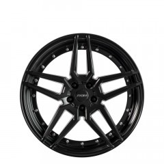 RO1 - Matt Black Silver Bolts wheels