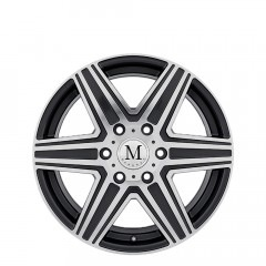 Atlas 6-stud - Gunmetal Mirror Cut Face wheels