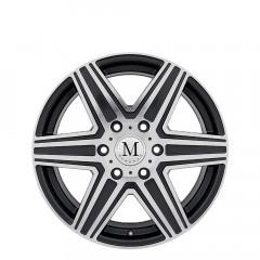 Atlas 6-stud - Gunmetal Mirror Cut Face wheels
