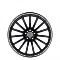 Millenium - Gloss Black W/Mirror Cut Lip wheels
