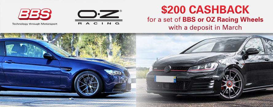 BBS & OZ Racing $200 Cashback Offer