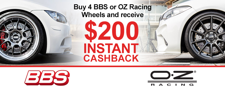BBS and OZracing Wheels $200 Cashback Offer