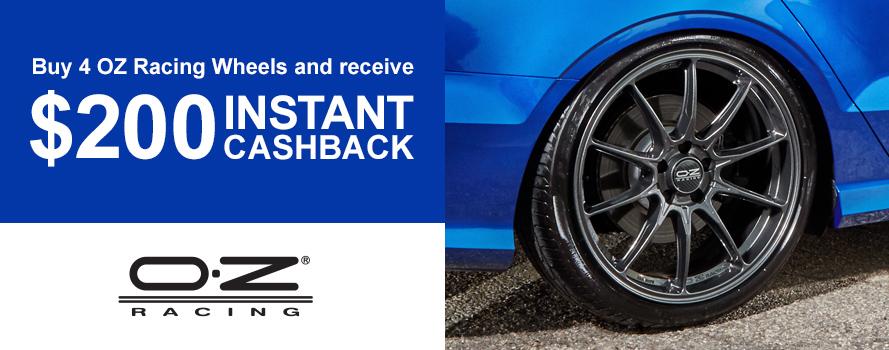 OZ Racing $200 Cashback Offer