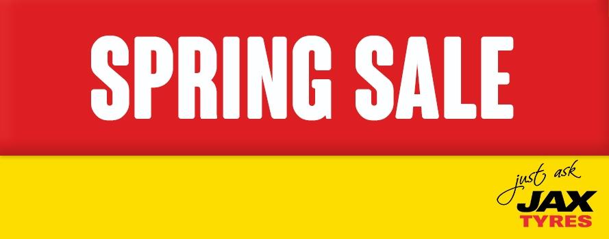 Jax Tyres Spring Sale