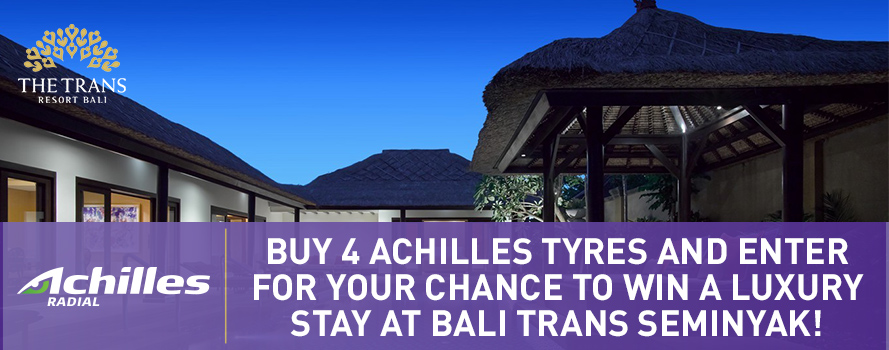 Buy 4 Achilles tyres for a chance to WIN a luxury stay in Bali