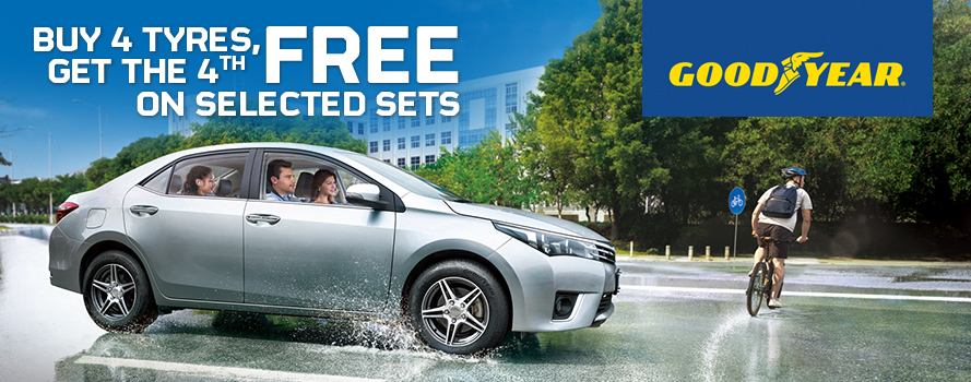 Goodyear Assurance Triplemax 2 Buy 4 tyres, get the 4th FREE