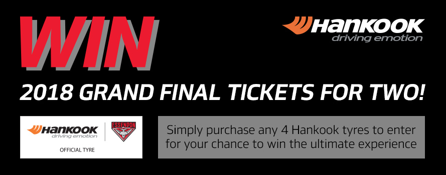 Hankook Win AFL Grand Final Tickets for two
