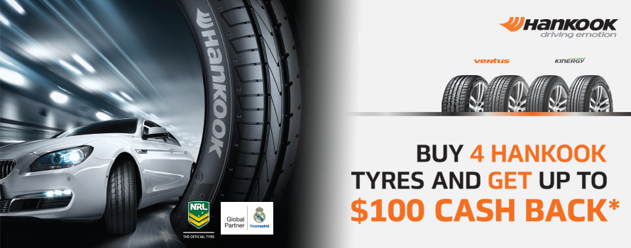Hankook up to $100 Cashback