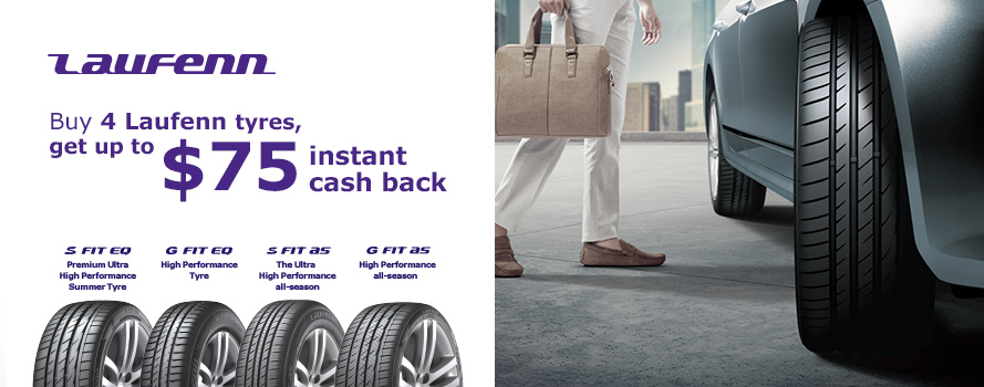 Laufenn up to $75 Instant Cashback