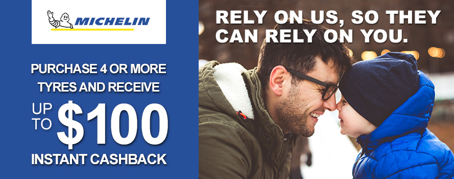 Michelin up to 100 Dollar Instant Cashback