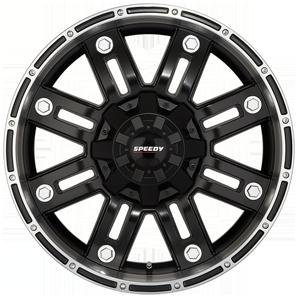 Speedy Beast - Satin Black Satin Machined from JAX Tyres